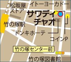 足立区竹ノ塚のマップ